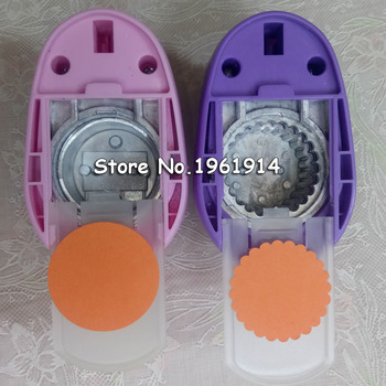 Free shipping 2pcs 1.5 inch (about 3.7cm) craft hole punch eva foam drillers scrapbook drill circle and wave circle punches