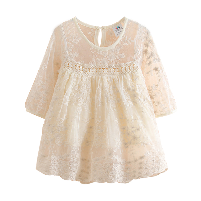 Spring baby girl Dresses Children Girls Long Sleeve lace dress Kids Clothes Party Dress Girls Clothes For 2-12Y girls dresses baby girl long sleeve dress new autumn cotton denim dress for girls children costumes vestidos kids clothes