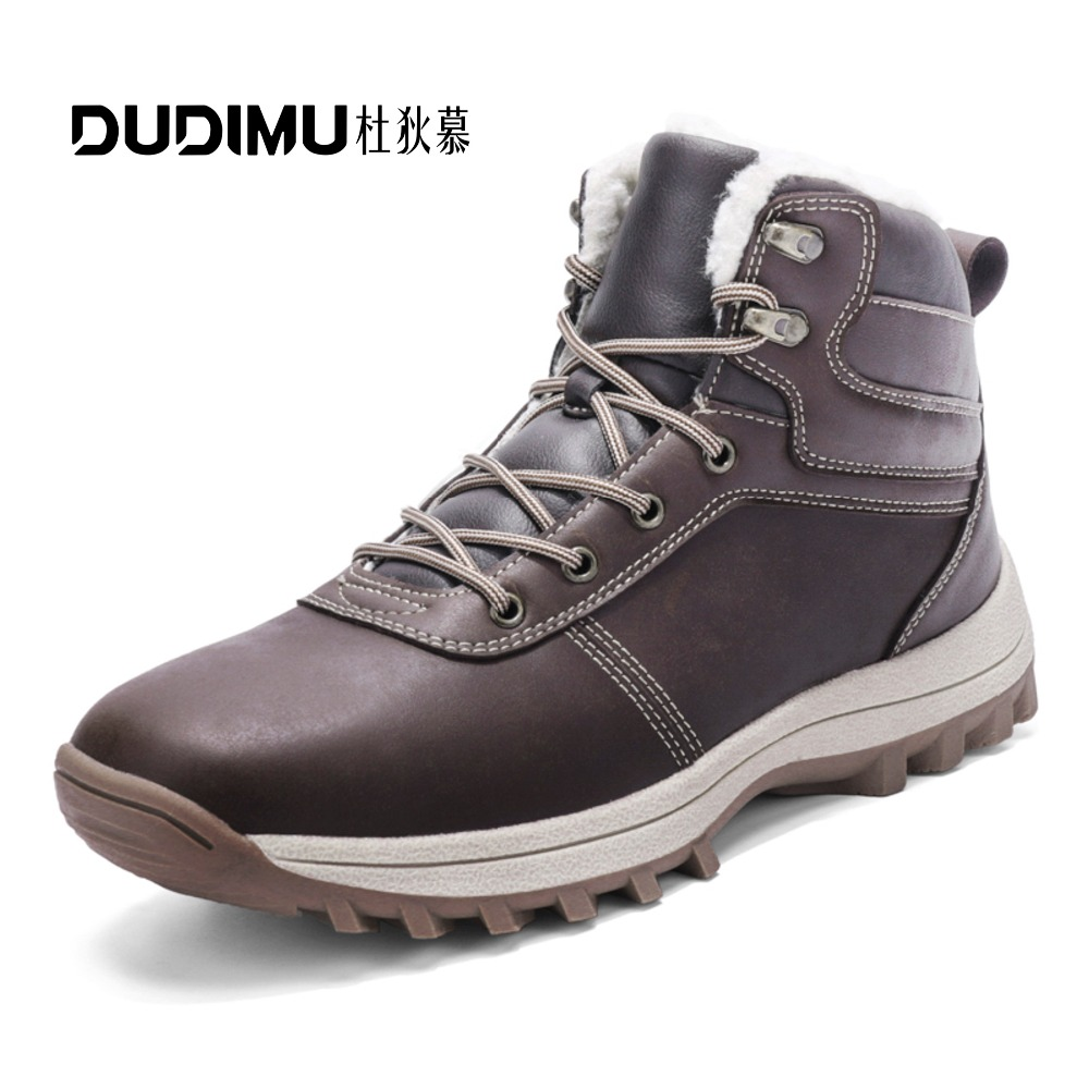 856212ce46a Men s hiking shoes winter snow boots waterproof non-slip off-road adventure  climbing and