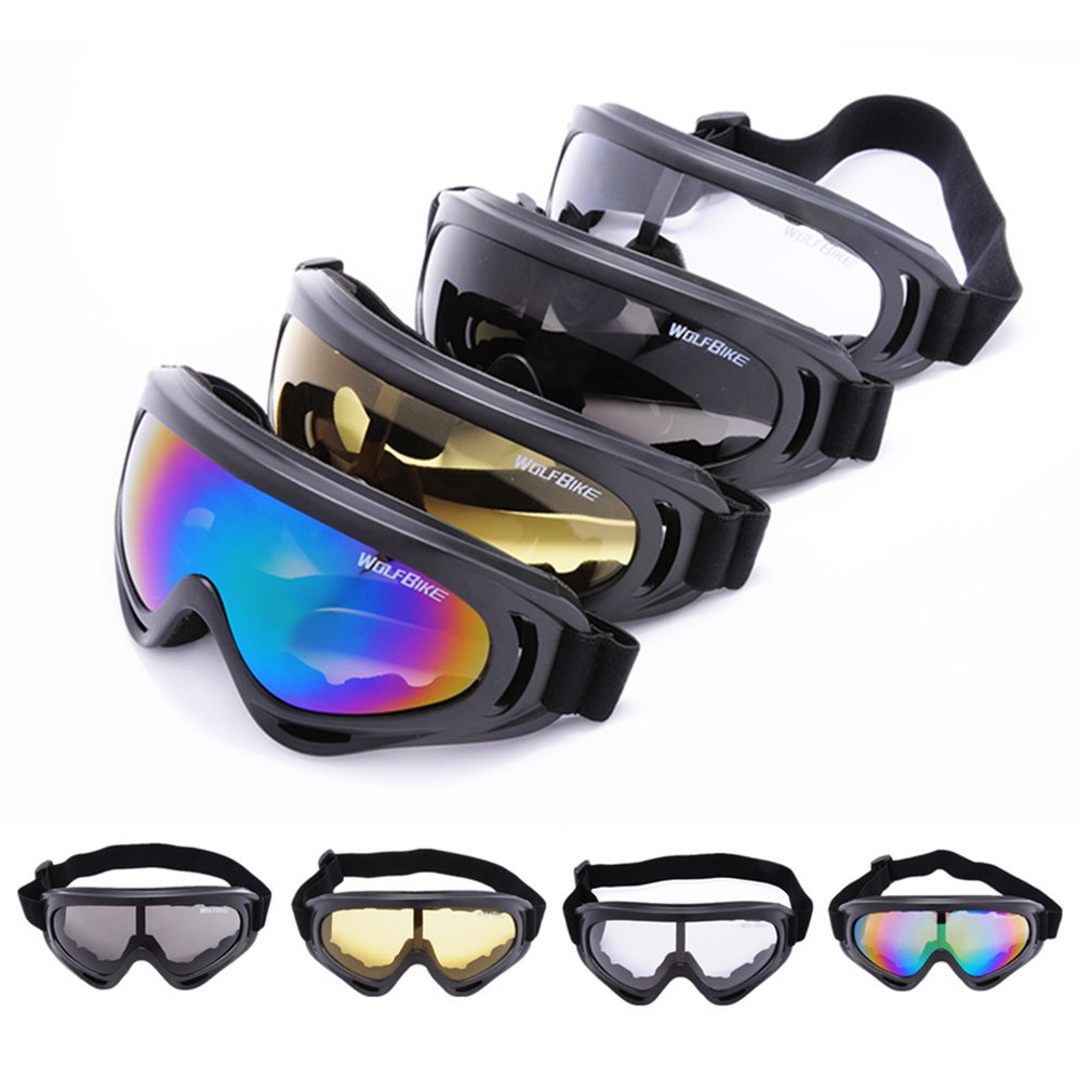 Hot Windproof Cycling Glasses Outdoor Safety Goggles Motorcycle Skiing Goggles Anti-scratch Adjustable Eyes Protector