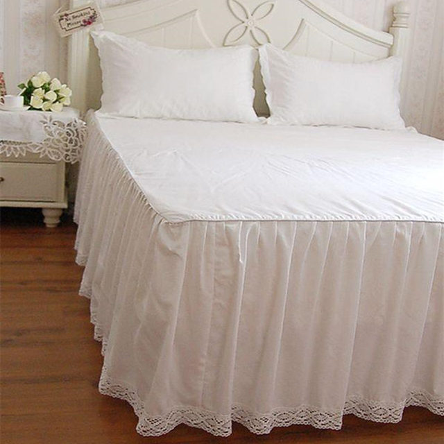 White Bedspread Full Cotton Bedding Princess Bed Sheet Comfortable Lace  Patchwork Coverlets Bedspreads Wedding Textil Bed
