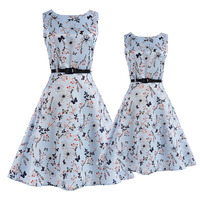 Mother and Daughter Dresses Summer 2017 New Girls Dress Teenage Clothing Mom Kids Family Matching Outfits Mae e Filha Vestidos