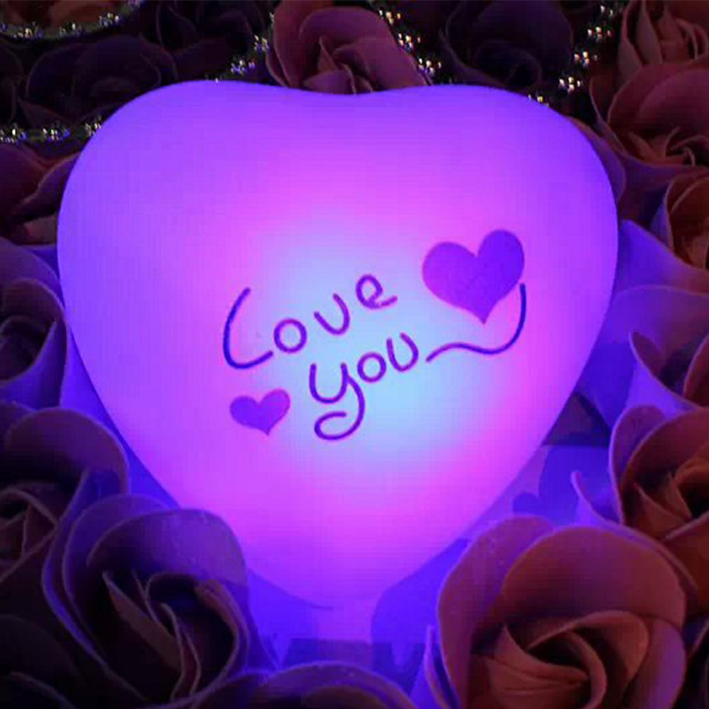 Led Valentine's Day Lovely Heart Battery Operated Decoration Bar Gift Girlfriend Bedroom Color Changing Night Light Romantic