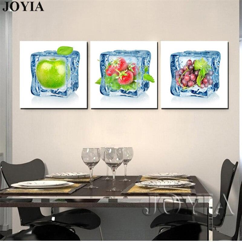 Modern Kitchen Art Set: Modern Ice Fruits Decor Pictures Living Room Home Kitchen