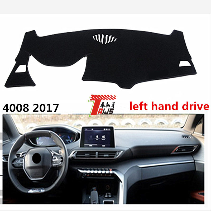 TAIJS left hand drive car dashboard MAT for Peugeot 4008 2017 sunscreen Pad for Peugeo