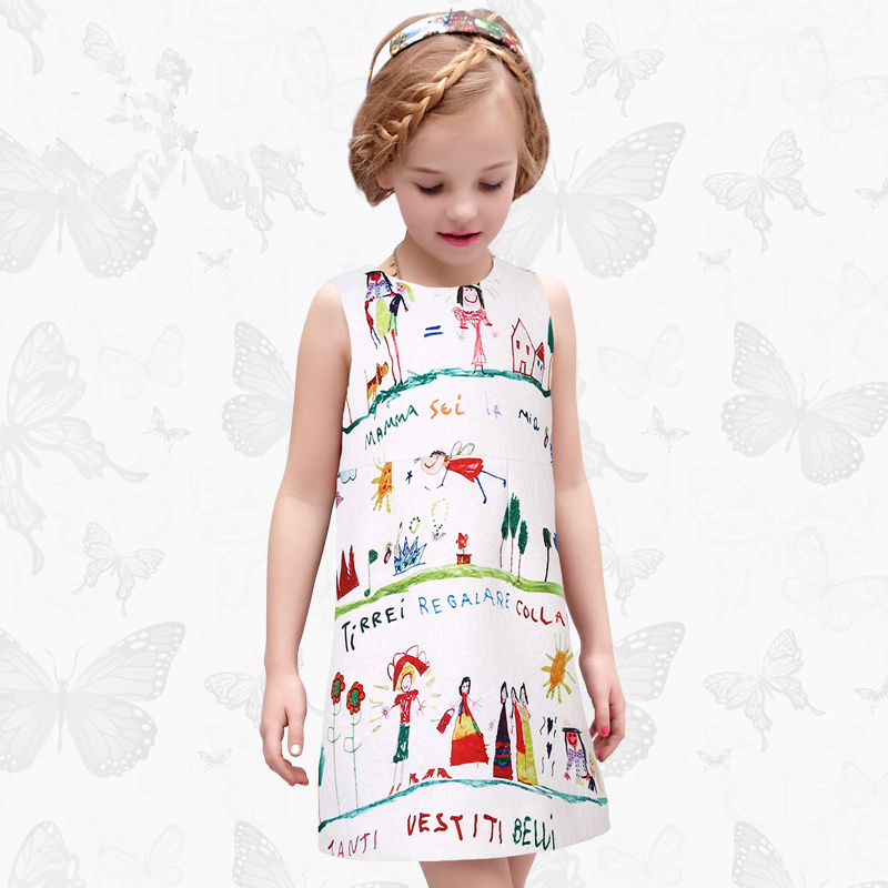 Toddler Girls Dresses Children Clothing 2017 Brand Princess Dress for Girls Clothes Fish Print Kids Beading Dress 1 37 toddler girls dresses children clothing 2017 brand princess dress for girls clothes fish print kids beading dress fanaideng 50