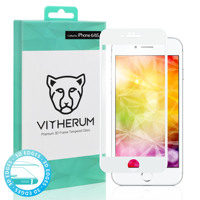 TURQUOISE Premium 3D Curved Tempered Glass for iPhone 6/6S (White frame)