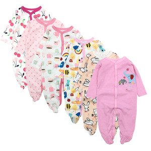 Image 3 - 6pieces/lot Baby rompers Newborn Baby Girls Boys Clothes 100% Cotton Long Sleeves Baby Pajamas Cartoon Printed Babys Sets