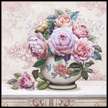 Needlework for embroidery DIY DMC High Quality - Counted Cross Stitch Kits 14 ct Oil painting - Vase with Flowers