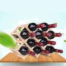 Качественные деревянные держатели для винных бутылок, креативные Практичные складные декоративные Шкафы для гостиной, красные винные витрины стеллажи для хранения