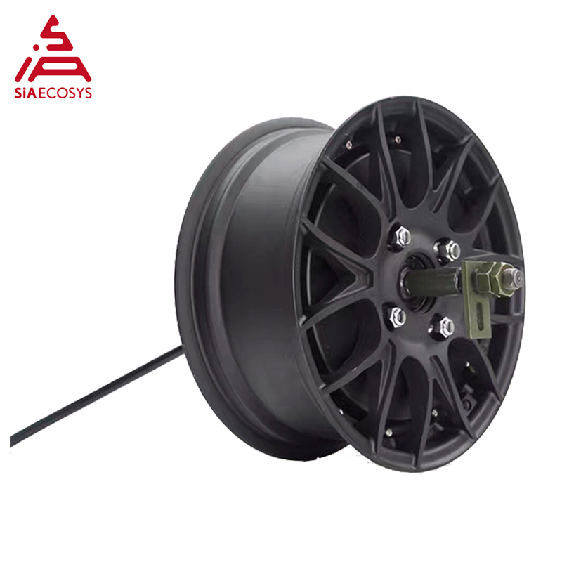 Powerful New Version QS <font><b>Motor</b></font> 12*5.0inch <font><b>5KW</b></font> 260 V4 Brushless <font><b>DC</b></font> Bike Scooter Wheel Hub <font><b>Motor</b></font> image