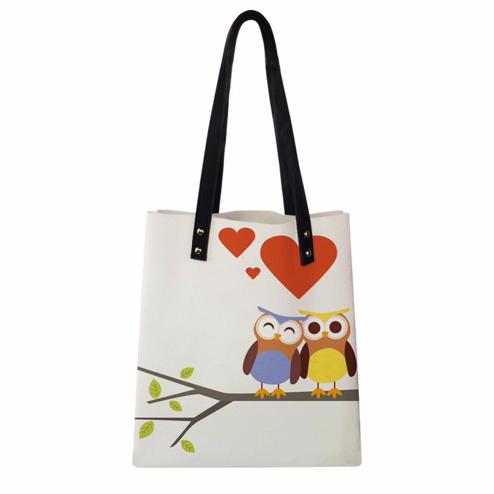 d923005658d1 Women Handbags Cute Cartoon Animal Owl Printing PU Leather Shoulder  Shopping Bags Girls Female Daily Causal. US  24.99. Japanese Anime ...