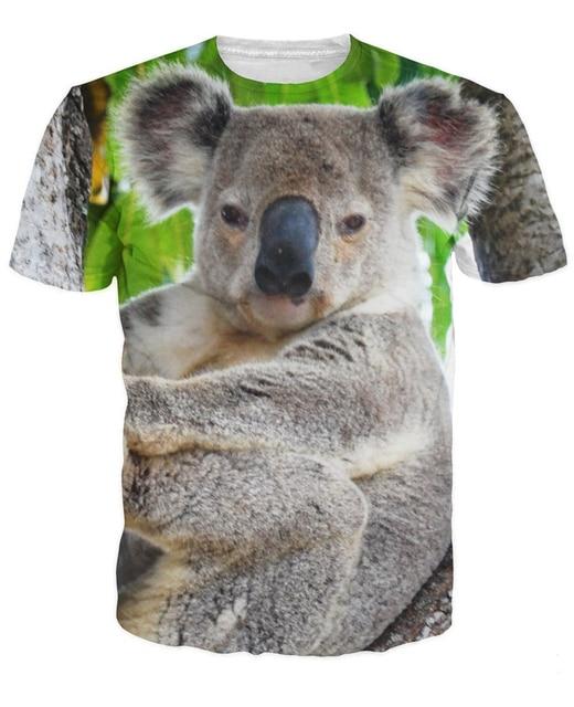 Koala T Shirt cute and cuddly koala bear 3d unisex animal ...