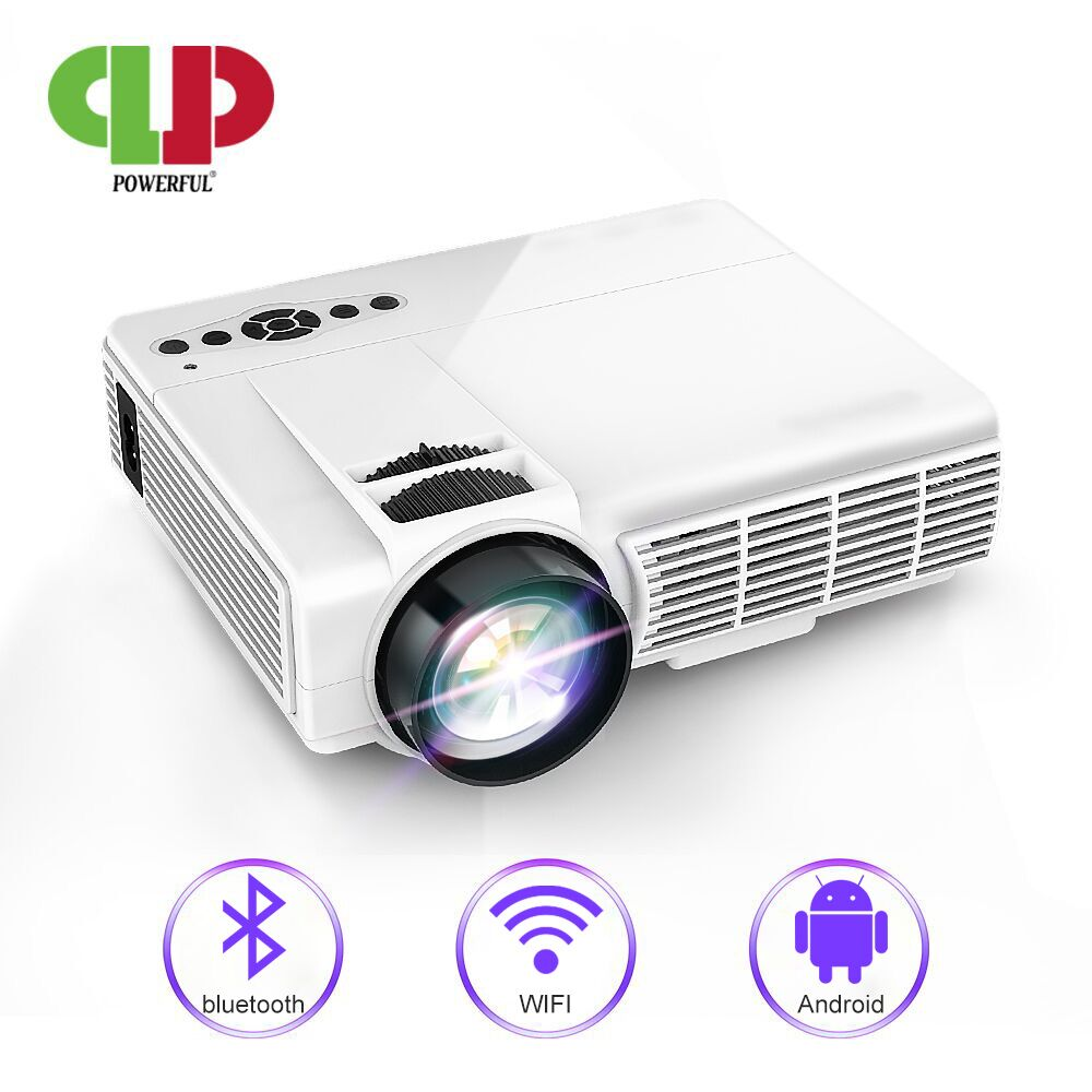 Powerful MINI Projector Android Projector LED Portable Home Theater Beamer Proyector Support Bluetooth WIFI Full HD