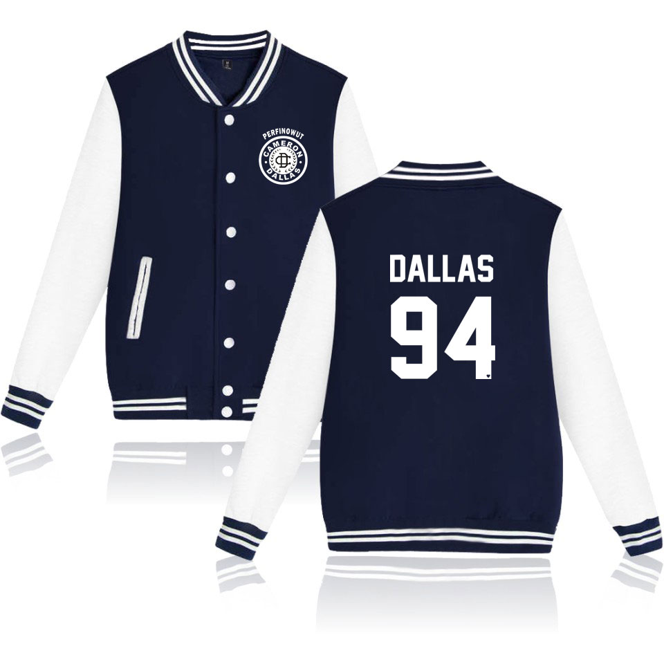 Cameron Dallas Jackets Women/men Casual Print Long Sleeve Bomber Jacket Hipster Harajuku College Jacket Big Size 4XL