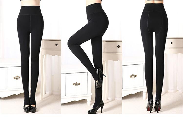 CHLEISURE Winter Warm Leggings Women High Waist Thick Velvet Legging Fashion Solid Large Size Autumn Leggings S-XL 8 Colors 19