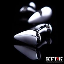 KFLK ювелирные изделия, французская рубашка, запонки в виде капли воды для мужчин, модный бренд, серебряная запонка,, кнопка, высокое качество