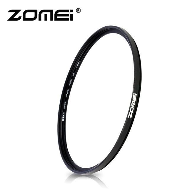 Zomei كاميرا تصفية UV سليم UV سليم MCUV تصفية Filtro 40.5 49 52 55 58 62 67 72 77 82 مللي متر حامي عدسة لكانون نيكون