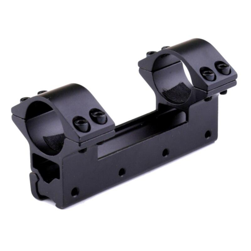 Tactique 25.4mm D'une Seule Pièce À Double Portée Anneaux Mont Supérieur Queue D'aronde Anneau 11mm Weaver Rail Pistolet Airsoft Adaptateur