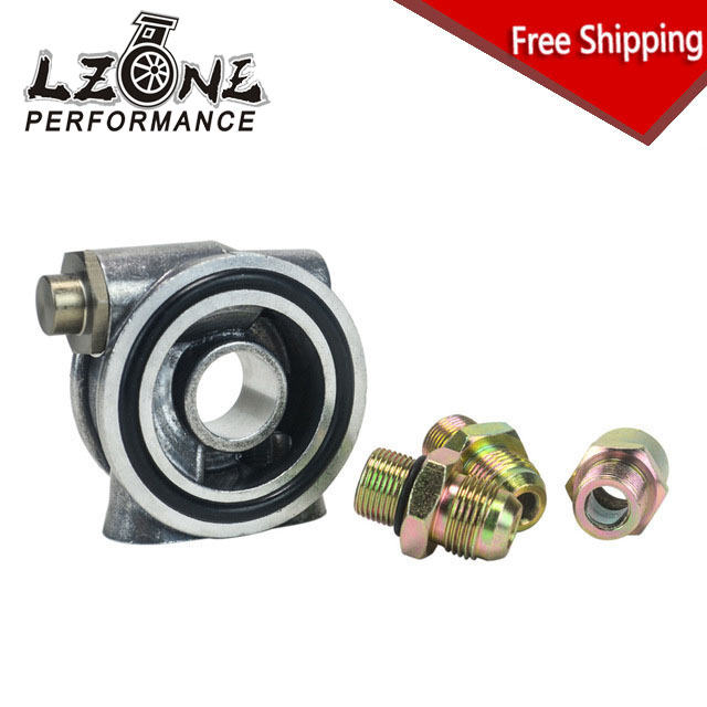 LZONE - FREE SHIPPING OIL COOLER FILTER SANDWICH PLATE THERMOSTAT ADAPTOR 3/4 16-UNF With AN10 fitting Oil Sandwich Adapter