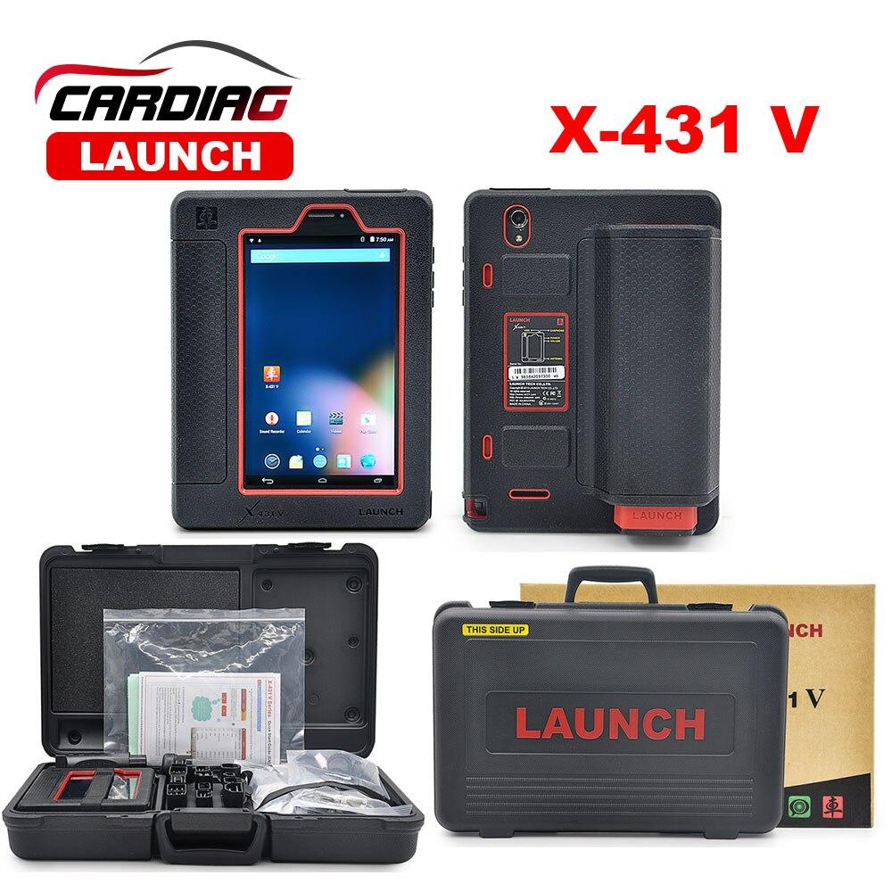 Prix pour 100% D'origine Lancement X431 V (X431 Pro) mondial Version Mise À Jour En Ligne via Bluetooth/WIFI Complet systerm auto outil de diagnostic X-431 V