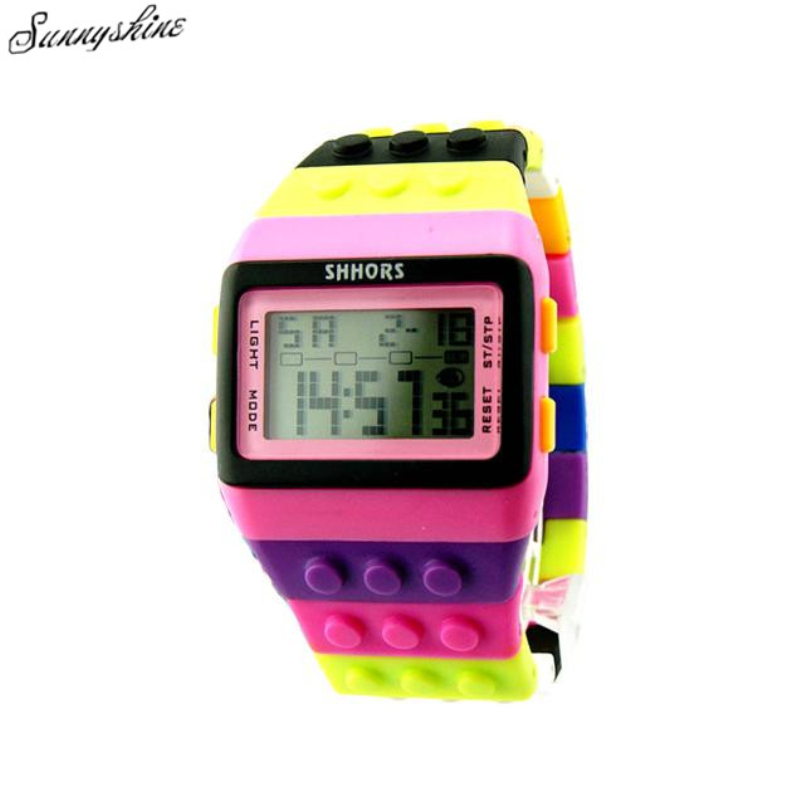 Fashion Unisex Watches Colorful Digital Waterproof Women men Clock Sport Wrist Watch wholesaleF3