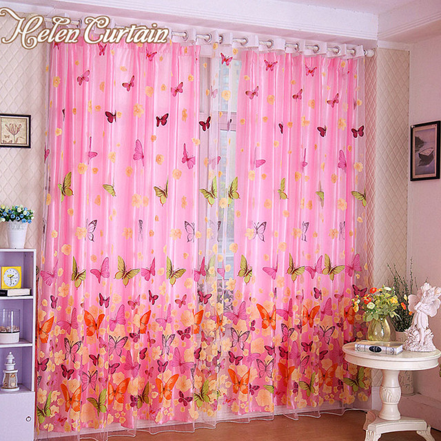 Aliexpress.com : Buy hot sale !Butterfly Print Sheer Window Tulle ...