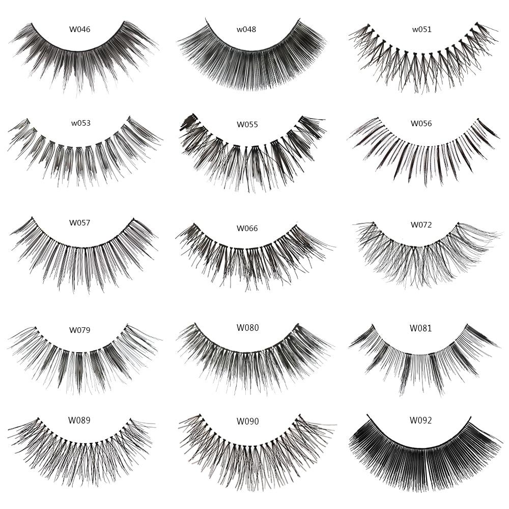 MAGEFY 1 Pair False Eyelashes Handmade Natural Long Thick Wispy False Eye Lashes Makeup Extension Lashes Cosmetics Multi-style