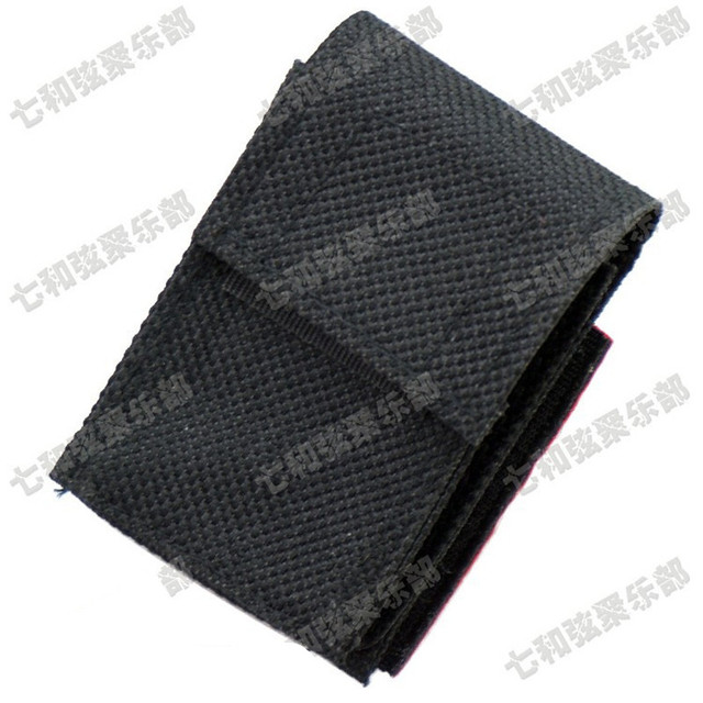 Black Nylon 9V Battery Bag Package Box Holder Case for Active Electric Guitar Bass Pickup
