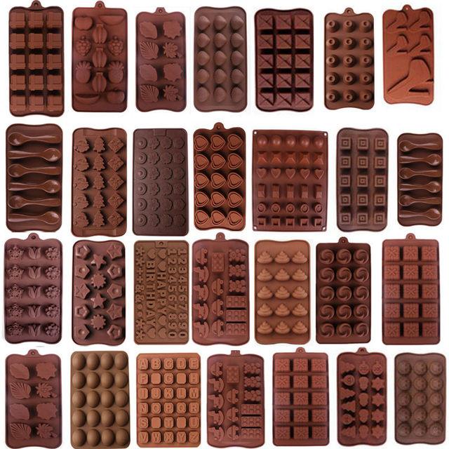 19 Форма 3D Силиконовые числа фрукты Шоколад Плесень Конфеты Cookie выпечки помадка плесень украшения торта Инструменты