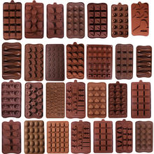 19 Shape 3D Silicone Numbers Fruit Chocolate Mold Candy Cookie Baking Fondant Cake Decoration Tools