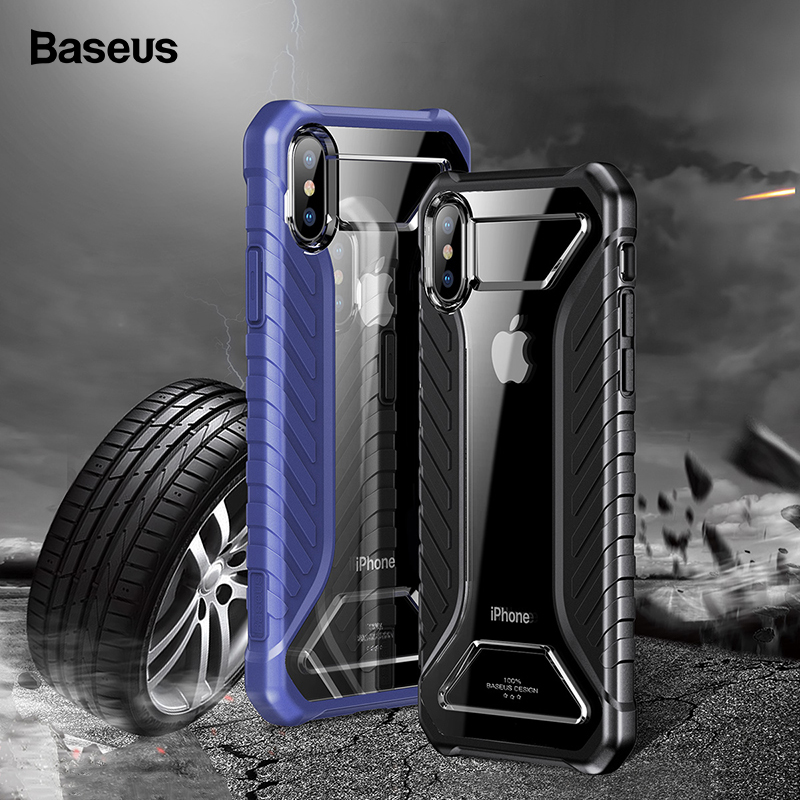 Baseus Tire Texture Case For iPhone Xs Max Xr X S R Xsmax Coque Rugged Armor Soft Silicone Protective Cover For iPhonexs Max iPhone XS