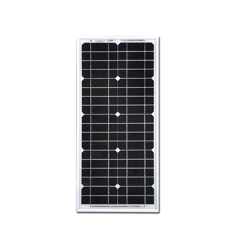 Solar Panel Mobile Phone Charger 20W Solar Module Kit PWM Solar Charge Controller 10A 12V/24V USB 1 M Wire Z Bracket Fan Phone