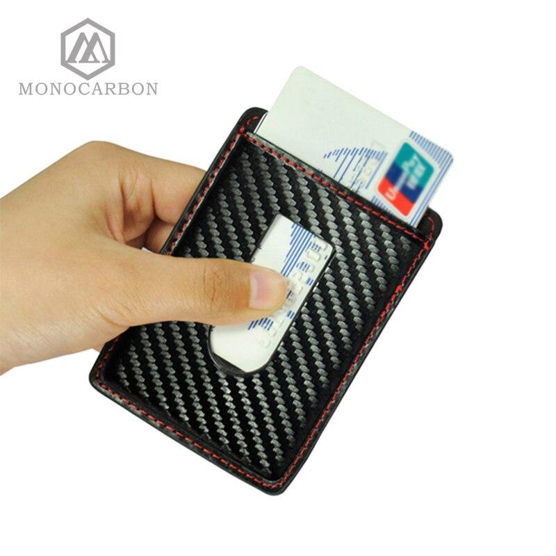 2017 Best Price Carbon Fiber Pattern Mens Credit Card Holders Colorful Stitching Slim Cr ...
