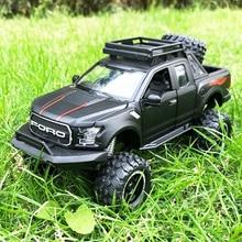 1:32 فورد رابتور F150 رافعة شاحنة خفيفة لنقل السلع المعدنية لعبة سبيكة التراجع قوالب طراز السيارة نموذج سيارة دمى هدايا للأطفال