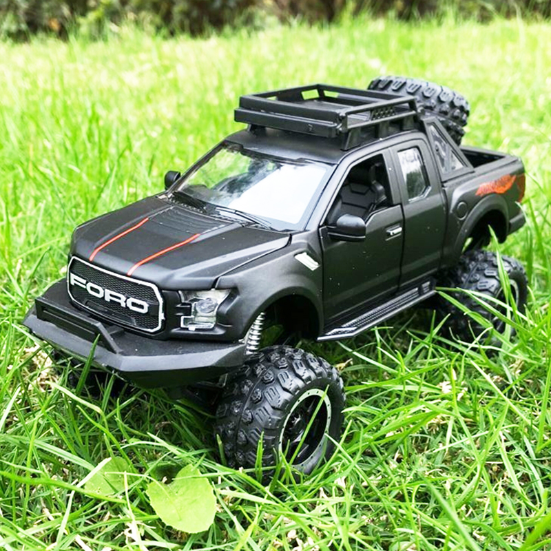 1:32 Ford Raptor F150 Pickup Truck Metal Toy Alloy Pull Back Diecast car Model car Model Gift toys for children image