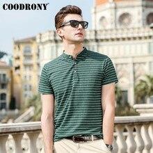 COODRONY Mandarin Collar Short Sleeve Tee Shirt Homme Soft Cool T Shirt Men 2019 Summer New Streetwear Casual T-Shirt Men S95072 casual drawstring mandarin collar t shirt