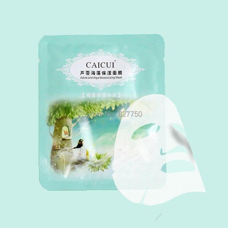 1pcs aloe vera, seaweeds Plant Collagen Crystal Face Mask,Anti-aging,Moisturizin