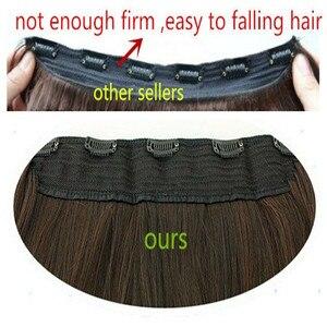 Image 5 - SARLA 10 יח\חבילה ברזילאי 5 קליפים בתוספות שיער עמוק גל ארוך סינטטי פאה טמפרטורה גבוהה 888 משלוח חינם