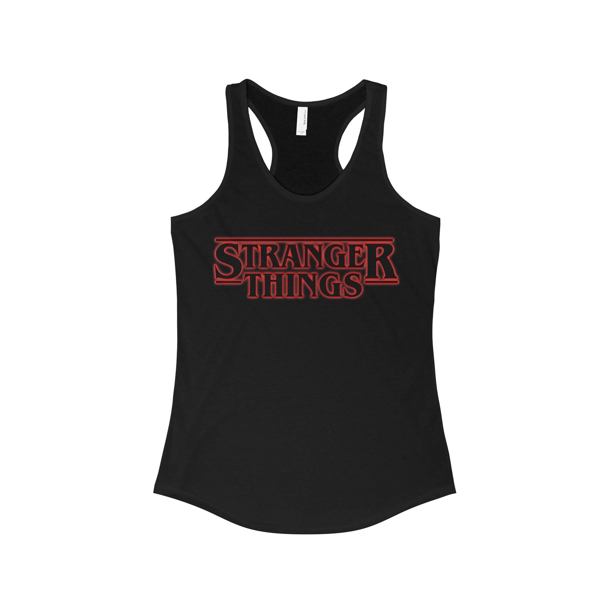 Women's Casual Clothing STRANGER THINGS Sleeveless   Tanks     Tops   Girl Cool Street Cotton   Tops   Graphic Tee Racerback   Tank     Top   Tees