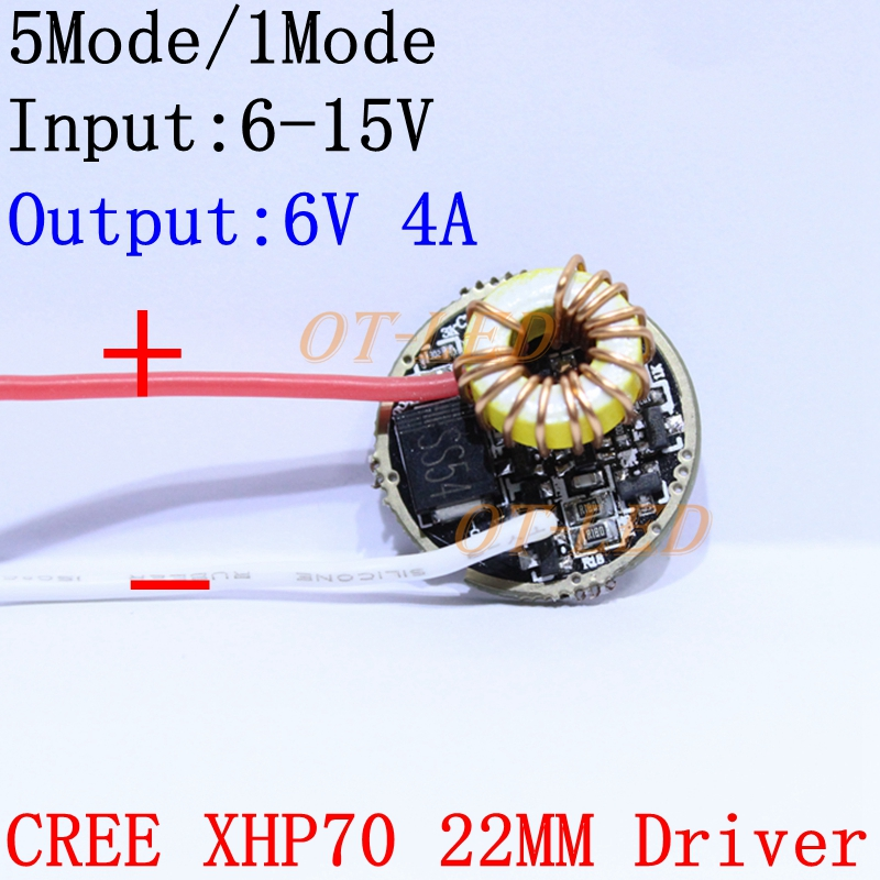 Cree XLamp XHP70 6V LED Driver 22MM DC6Vs