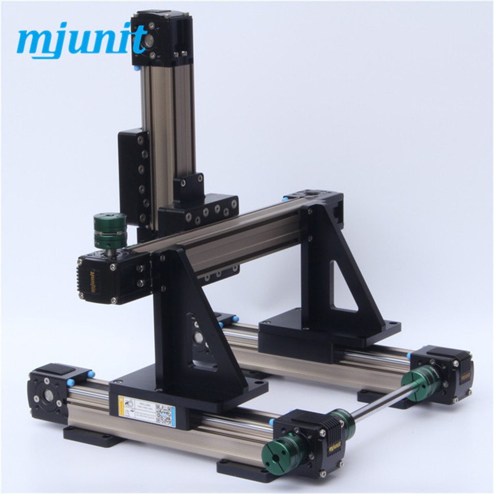 Motorized XYZ linear motion Nema 17 guide way belt drive linear rail linear axis with toothed belt drive belt drive linear rail reasonable price guideway 3d printer linear way