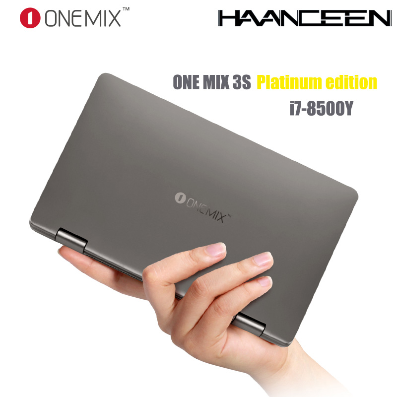 """One Mix 3S Platinum Edition Yoga Pocket Laptop Intel Core i7-8500Y Dual-Core 8.4"""" IPS 16G 512G Dual Band WIFI Type C Gift Bag"""