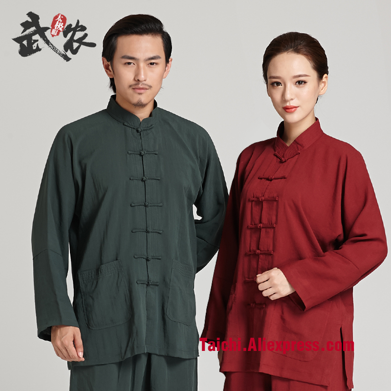 Martial Art Tai Chi  Unifrom Flax   Men And Women Taijiquan Martial Arts Performance  Clothes