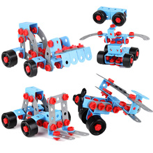 Best Birthday Gift 280pcs DIY Kids Puzzle Building Blocks Educational Robot Assembling Toys 3D Model Building Kits Simulation Nu