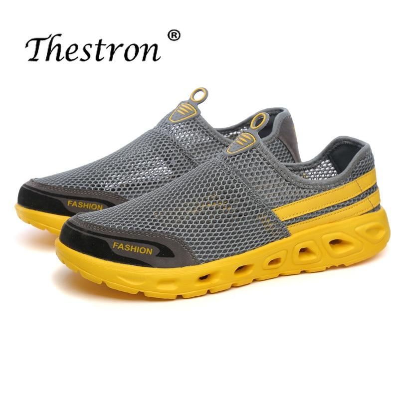 Thestron Summer Couples Wading Sneaker Breathable Women Beach Footwear Men Lightweight Surf Sneaker Comfortable Water Sport Shoe