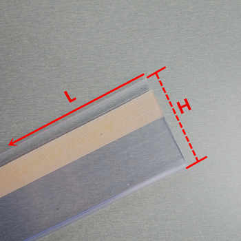 Plastic PVC Shelf Data Strips Clip Holder with Adhesive Tape on Back 10cm for Merchandise Price Talker Sign Label Display 100pcs