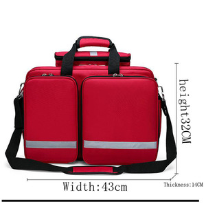Image 4 - Outdoor First Aid Kit Refrigeratible Sports Red Nylon Waterproof Cross Messenger Bag Family Travel Emergency Bag DJJB026
