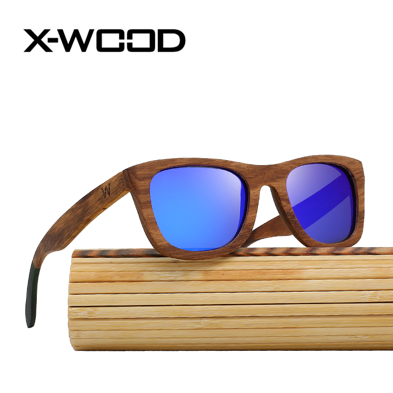 X WOOD Zebra Wood font b Polarized b font Sunglasses Women Men font b Fashion b
