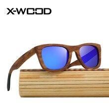 X-WOOD Zebra Wood Polarized Sunglasses Women Men Fashion High Quality UV400 Handmade Wood Sunglasses Polarized Eye Wear Sunglass